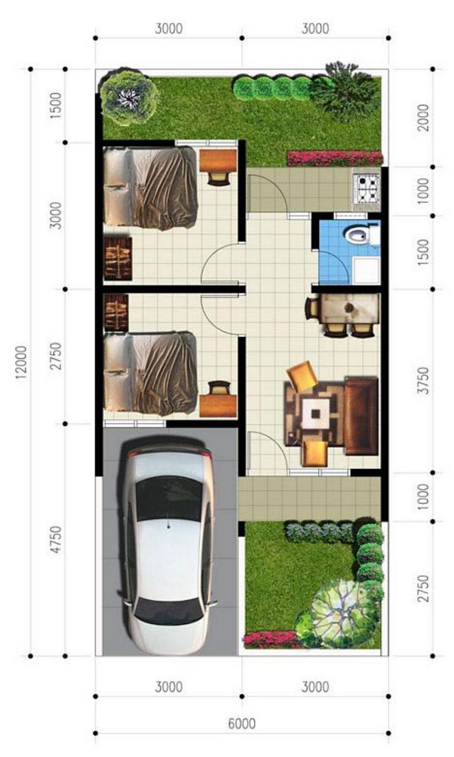 contoh denah ada garasi 6x12 yang populer