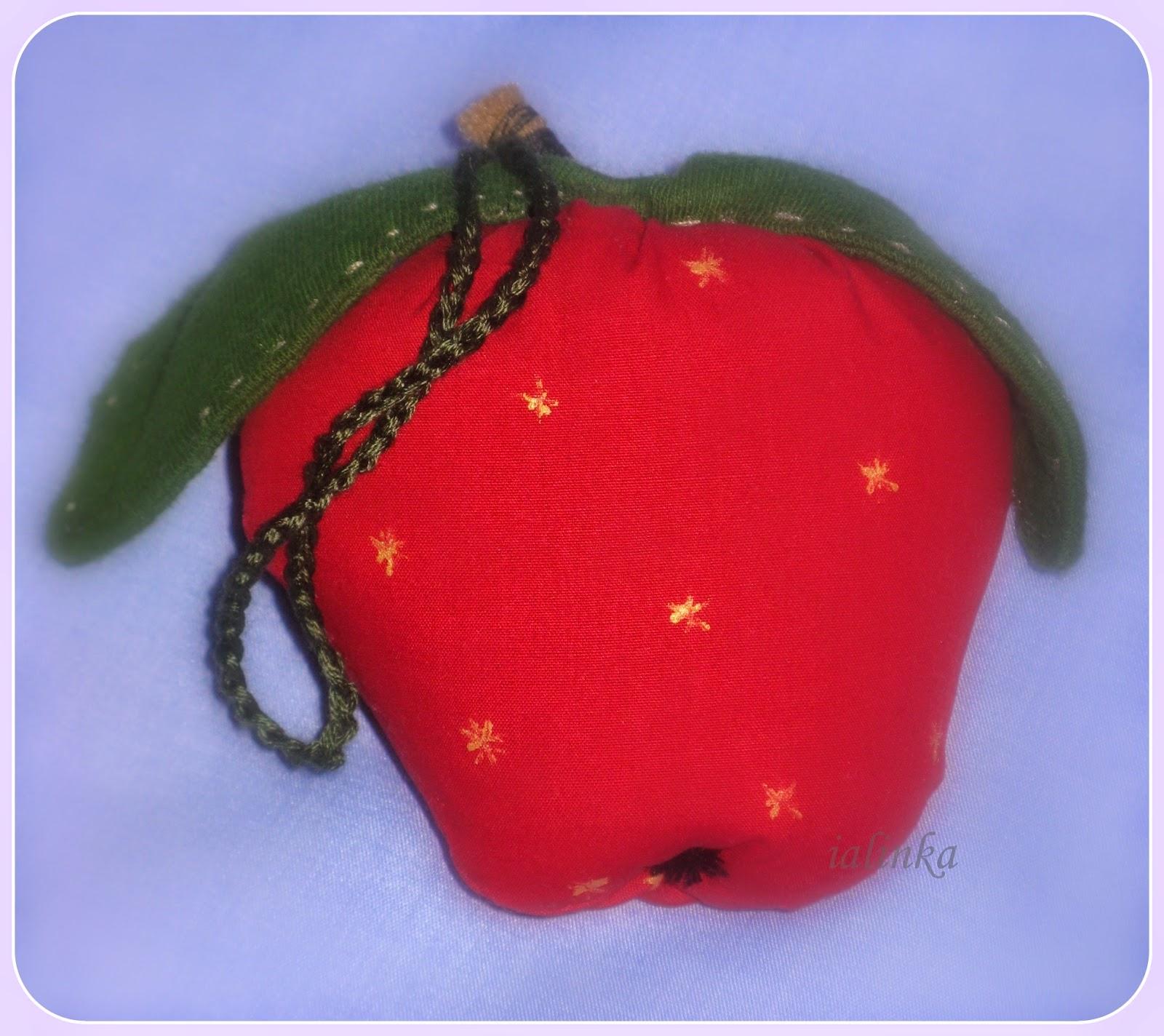 яблоки тильда украшение на елку новый год