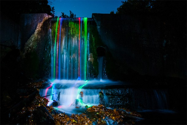 Magical Shots of Glowing Waterfalls