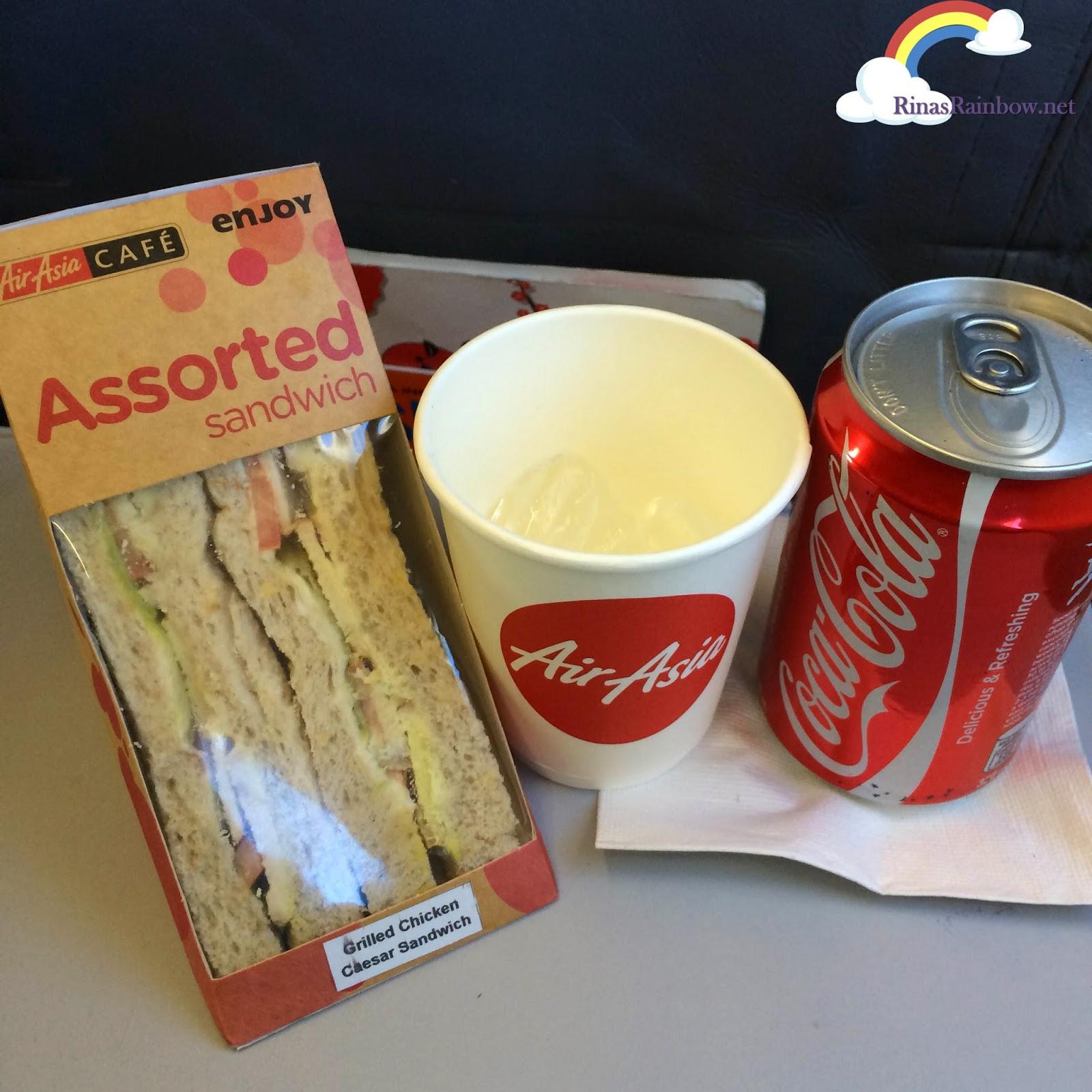 air asia cafe snacks