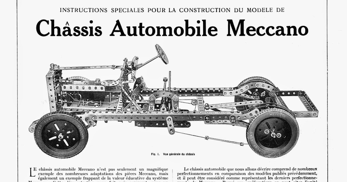le chassis automobile de 1928 meccano hobby. Black Bedroom Furniture Sets. Home Design Ideas