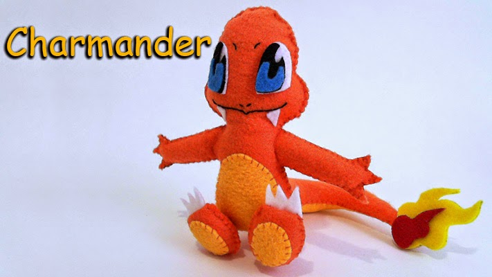 How to Make a Charmander Pokemon plushie tutorial