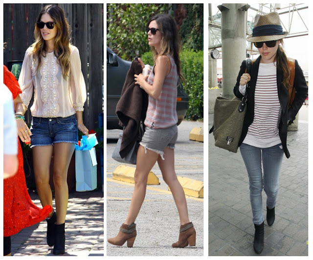 a filha do chefe rachel bilson day by day shorts boots hat eyeglasses