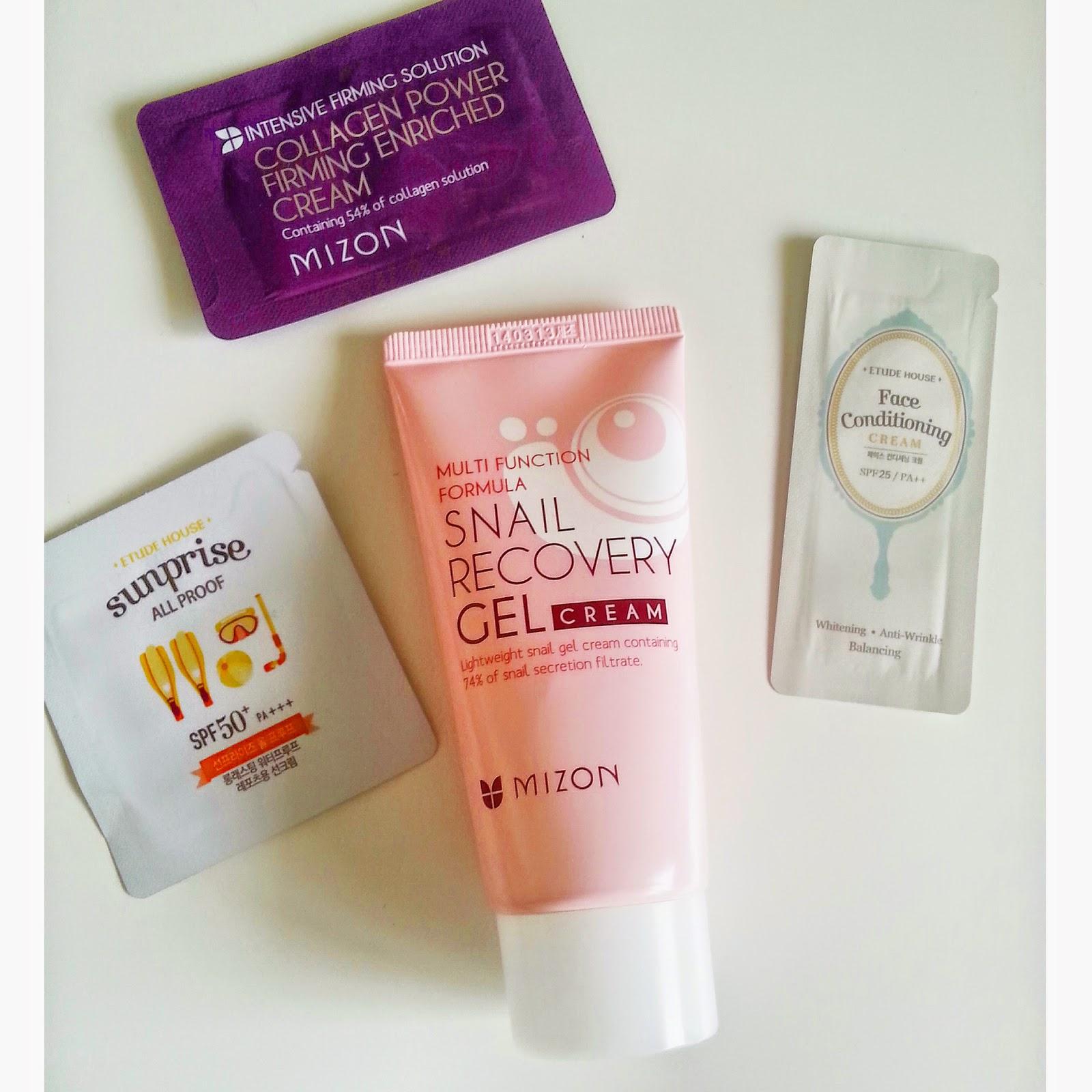 Korean skin care Mizon Snail Recovery Cream