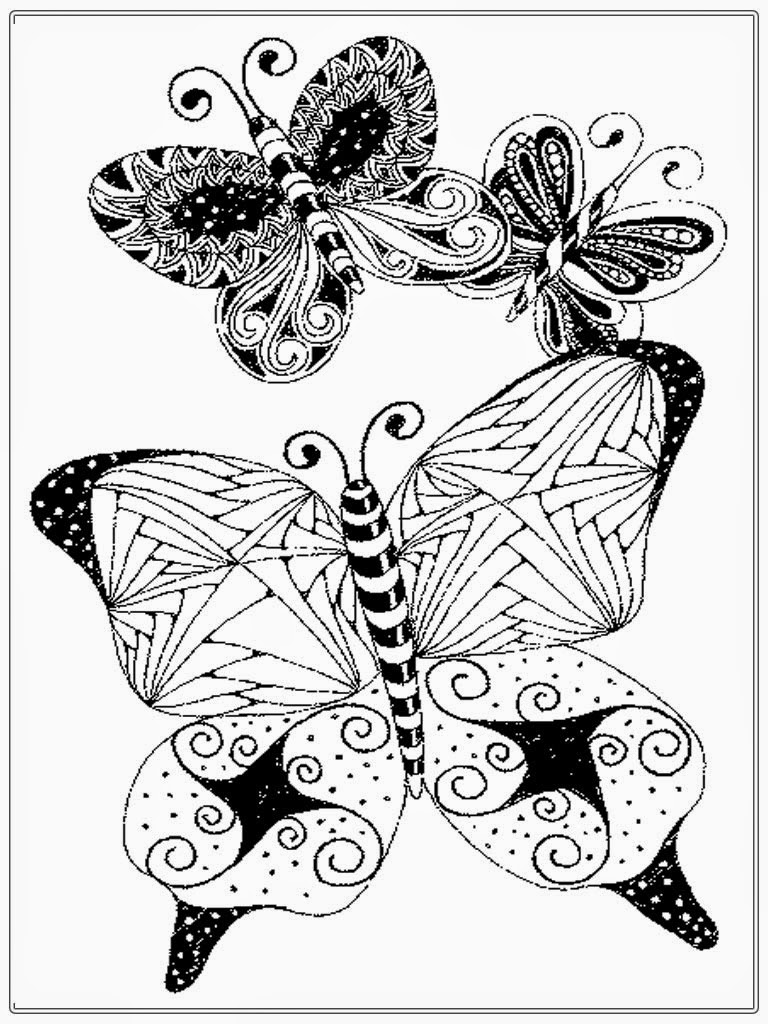 realistic butterflies coloring pages - photo#22