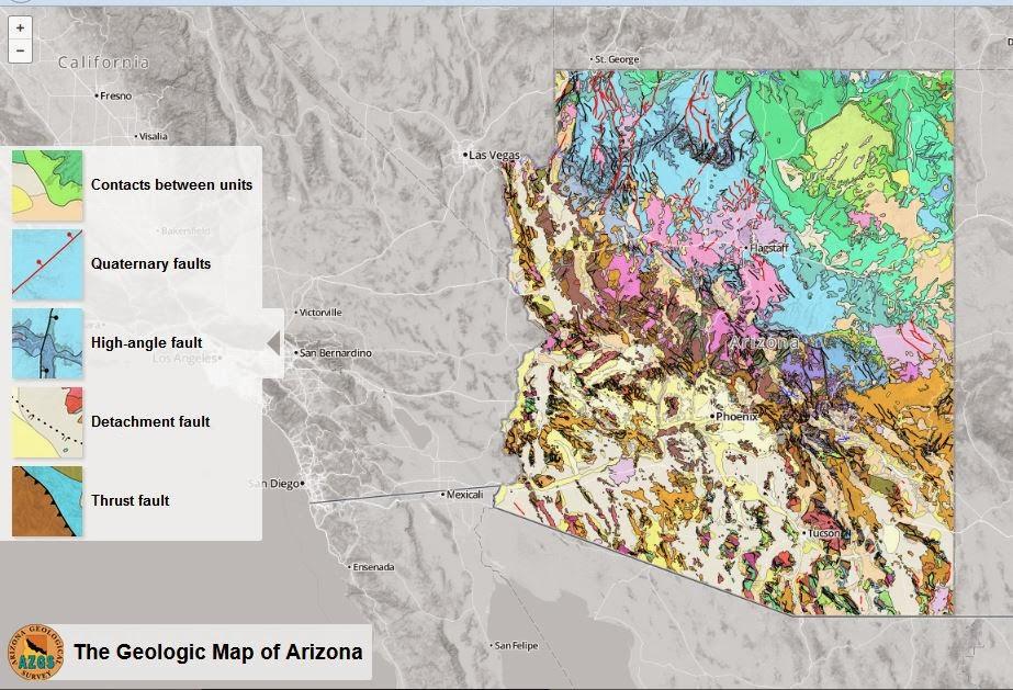 Arizona Geology Interactive Geologic Map Of Arizona Now