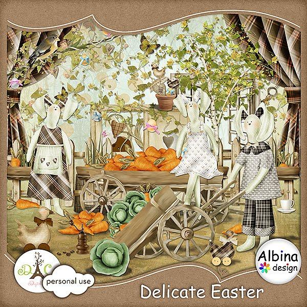 Скрап-набор  Delicate Easter