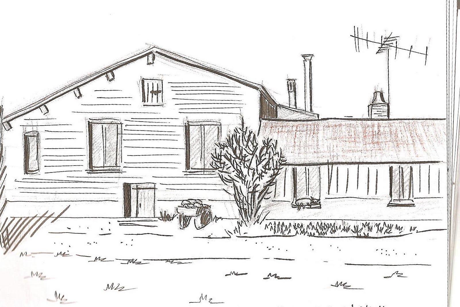 Globulle satirique croquis de moncontour for Croquis d une maison