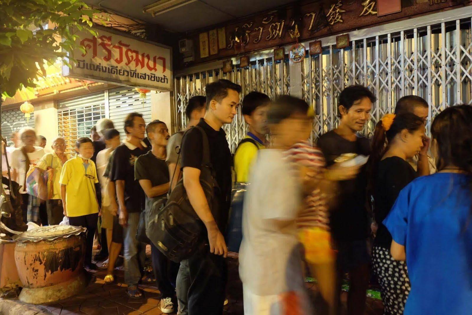 Matutdeling i Bangkok. 12/10 -2016