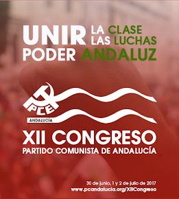 Web del XII Congreso del Partido Comunista de Andalucía