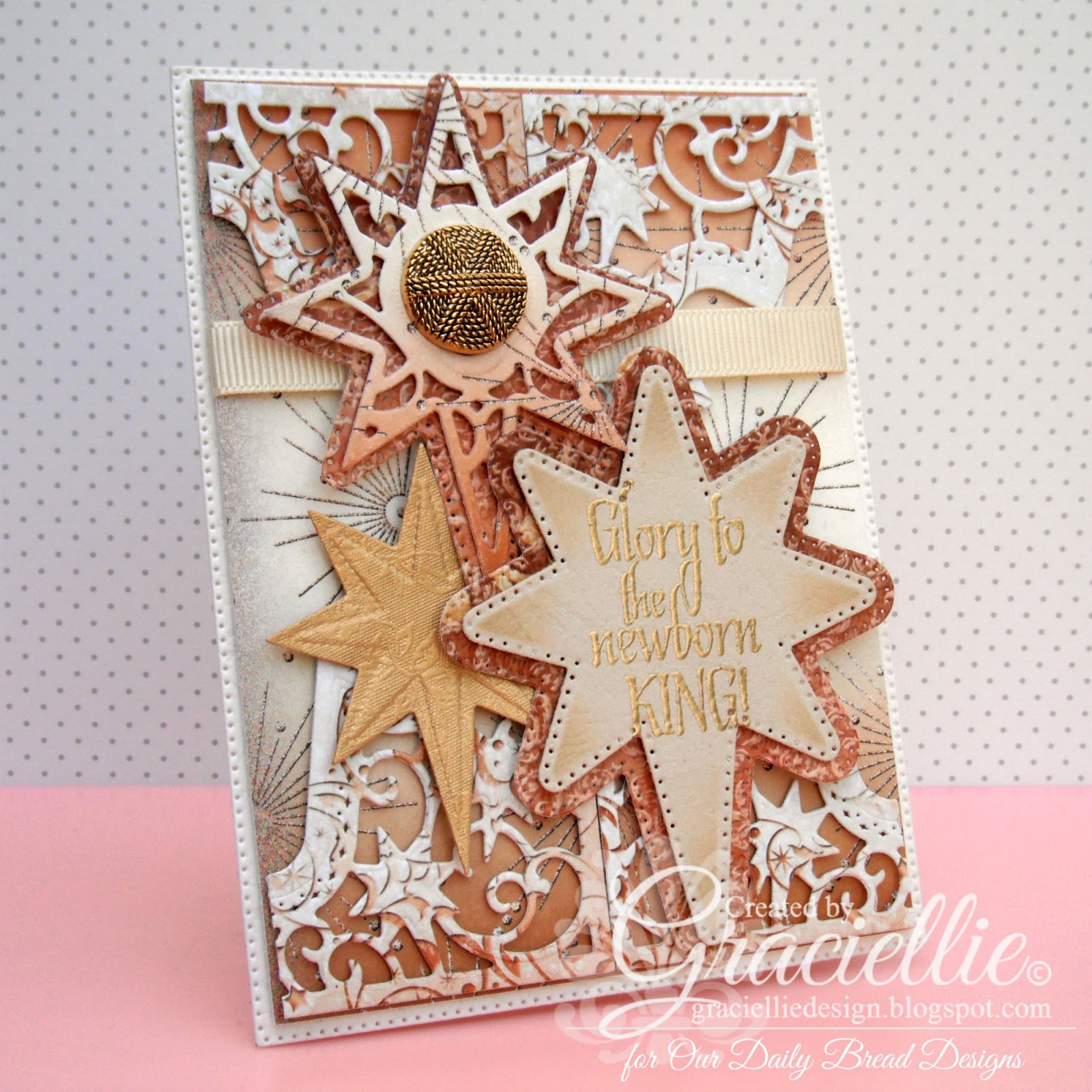 Stamps - Our Daily Bread Designs Silk Stars, ODBD Custom Flourished Star Pattern Die, ODBD Custom Splendorous Stars Dies, ODBD Winter Paper Collection 2014