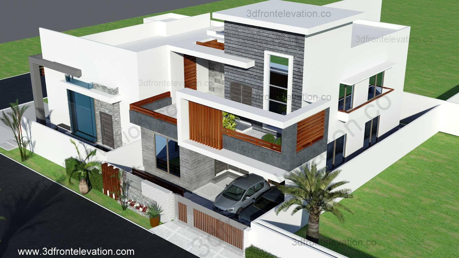 3d front 10 marla contemporary house design 5 marla house plan 3d