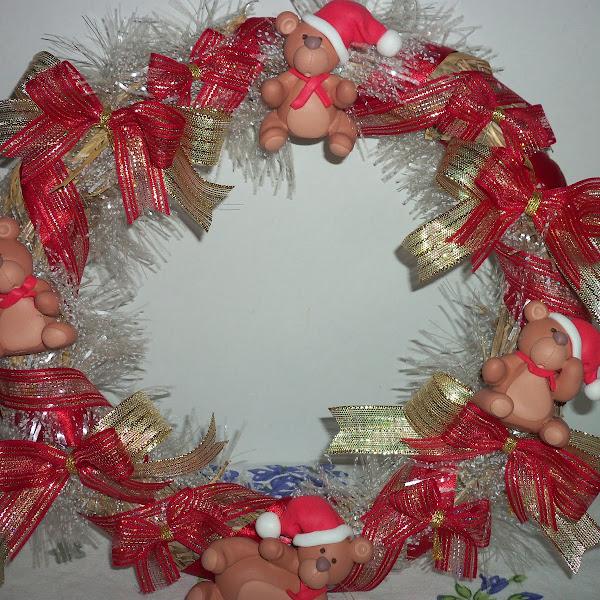 Guirlanda de Natal de Ursinho