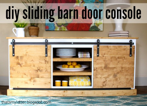sliding barn door console free plans