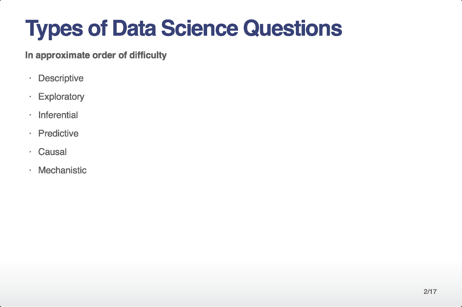 knowledge seeker u0026 39 s blog  types of data science questions