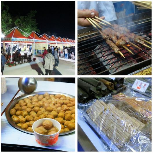 Picture Of The Pasar Malam Foods And On Right Corner You Can See