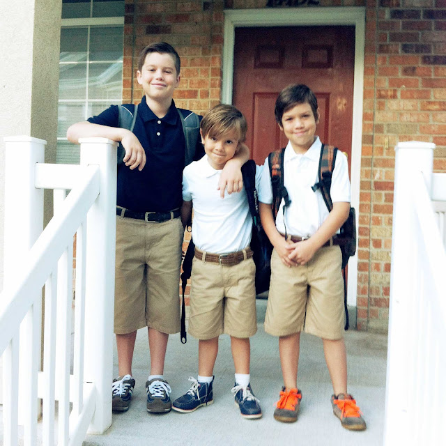 first day of school at channing hall charter school