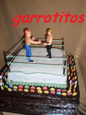 tarta de boxeo con público de lacasitos