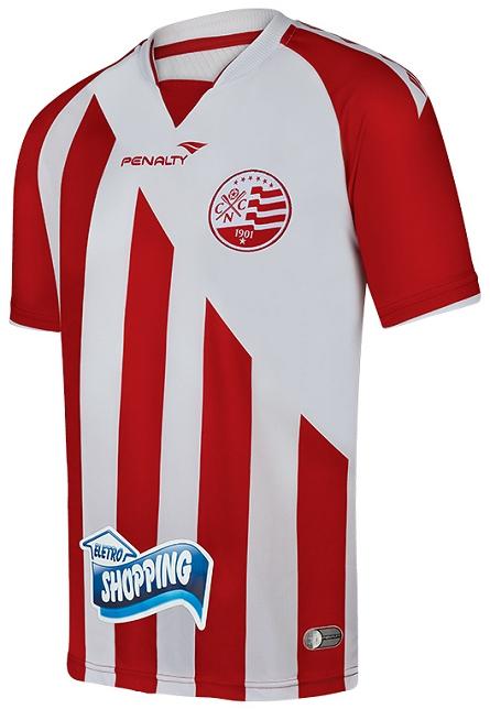 4c79fc477e4 A camisa reserva é branca com três faixas vermelhas na horizontal