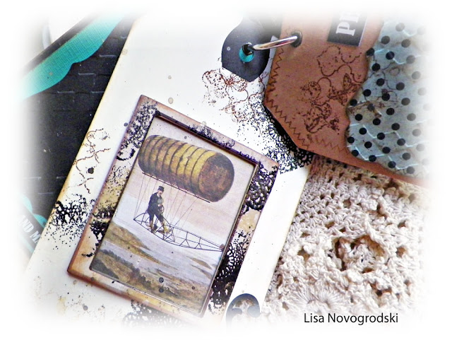 Scraps of Darkness scrapbook kits: Lisa Novogrodski created this beautiful steampunk tag & bag mini album with our Sept. Tanya's Industrial Odyssey kit. Find our kits here: www.scrapsofdarkness.com