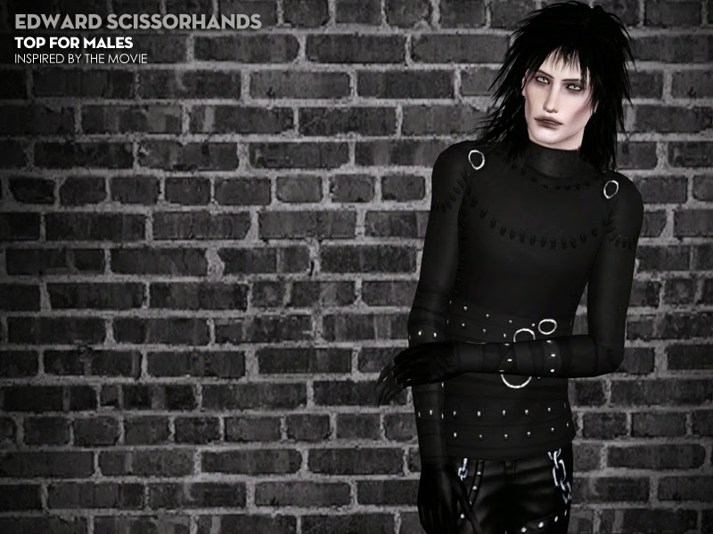 My Sims 3 Blog Edward Scissorhands Top For Males By Thepathofnevermore