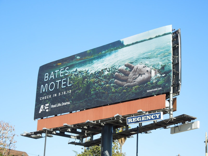 Bates Motel hand billboard