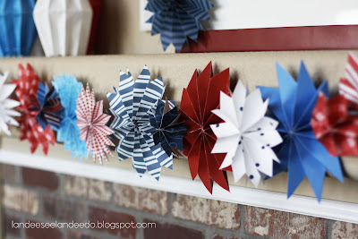 4th+july+garland+1 July 4th Decorations, Crafts and Games   Part 2