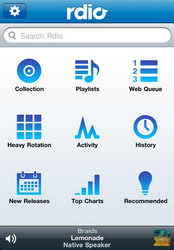 Rdio social music service app for iPhone updated