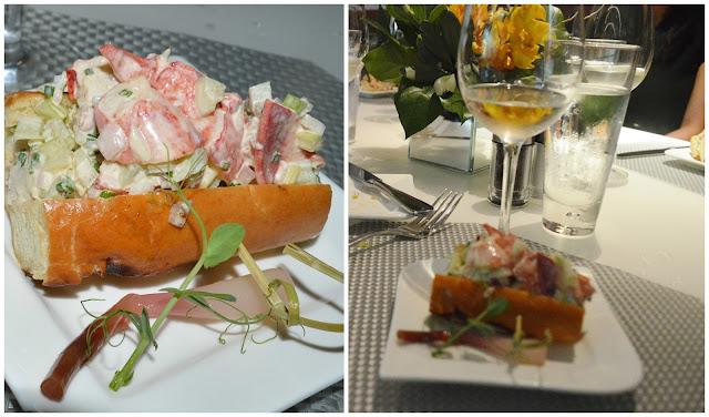 Mini Maine Lobster Roll-Harissa-Pickled Ramp at the Mediterraneo Restaurant