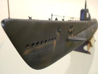 submarino a escala 1/144 Gato SS 212 de Trumpeter