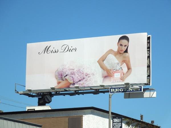 Natalie Portman Miss Dior perfume billboard