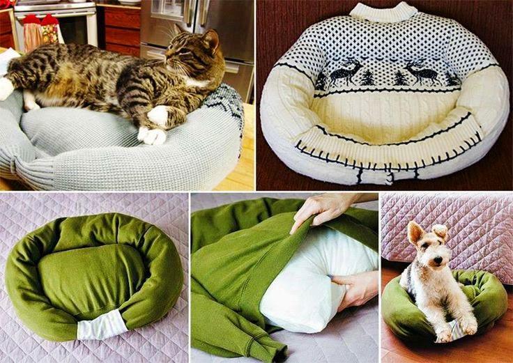 10 Ideas de Camas Recicladas para Mascotas
