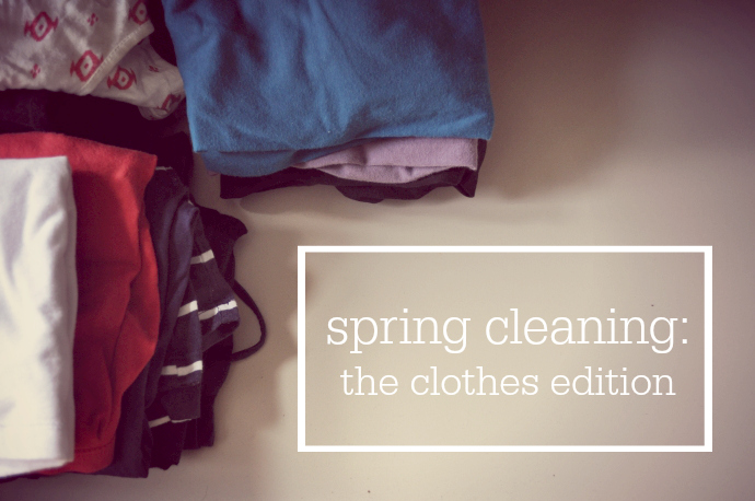 Spring cleaning, clothes
