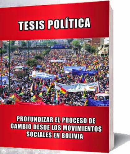 Tesis Política Profundizar el proceso de cambio desde los movimientos sociales