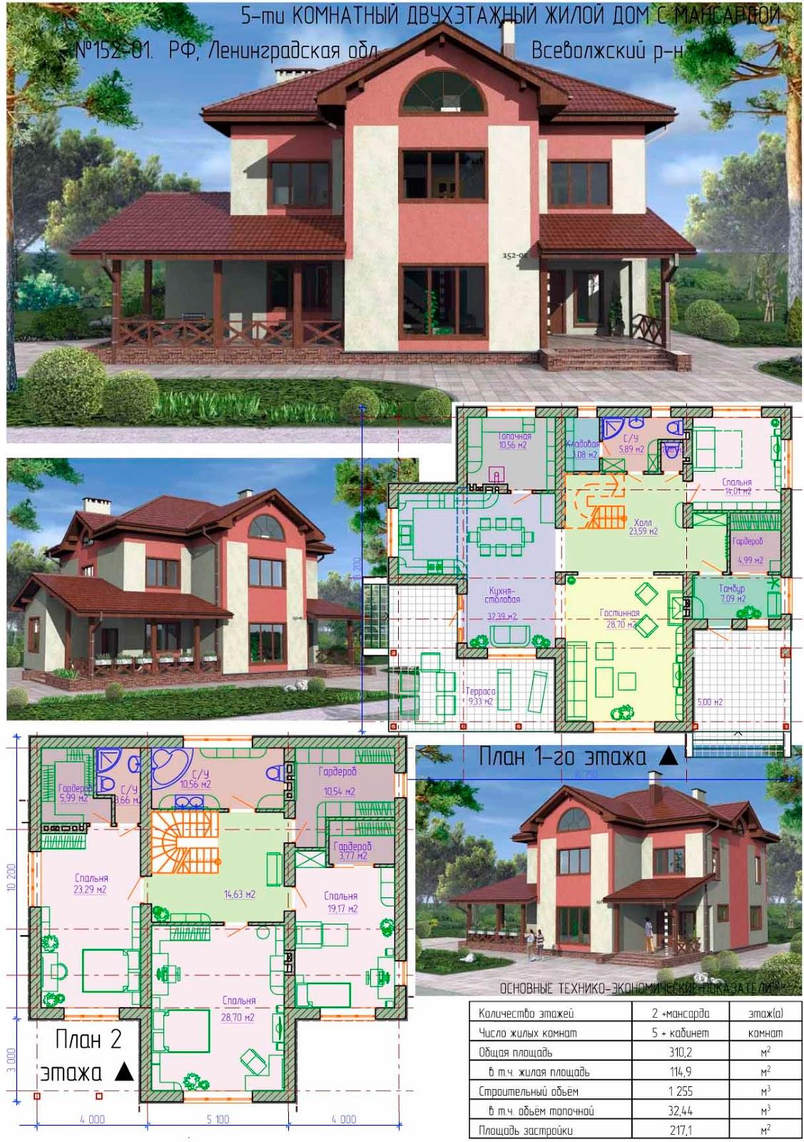 фото двухэтажные планировка дома и