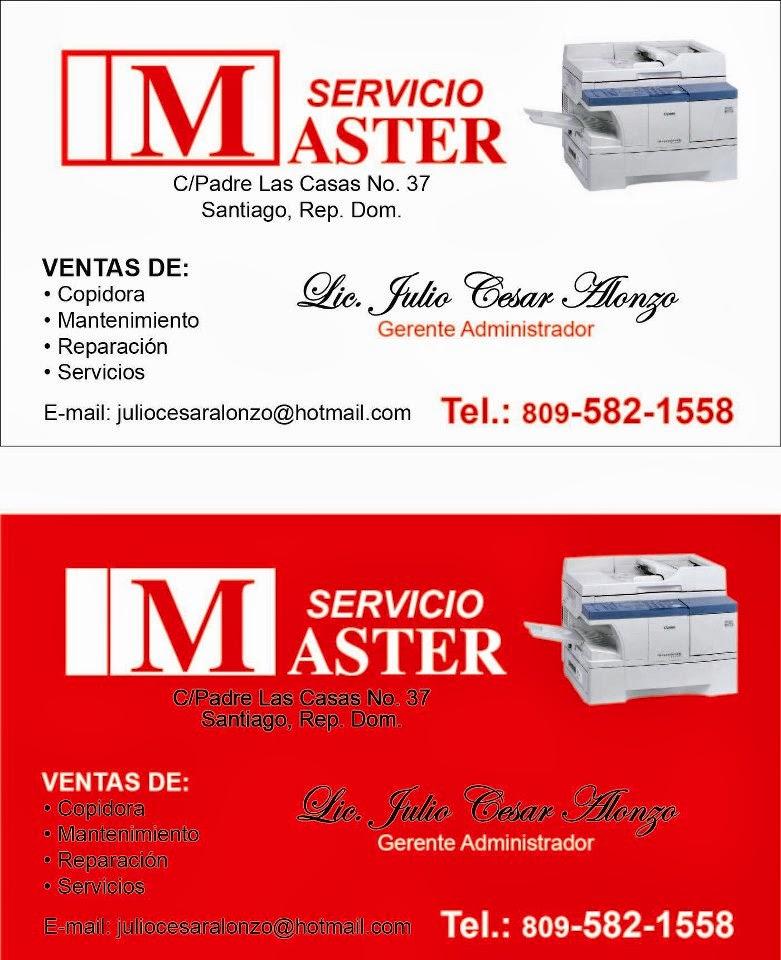Copy Sharp          Servicios Master        -Fotocopiadoras -Ventas/ Servicios
