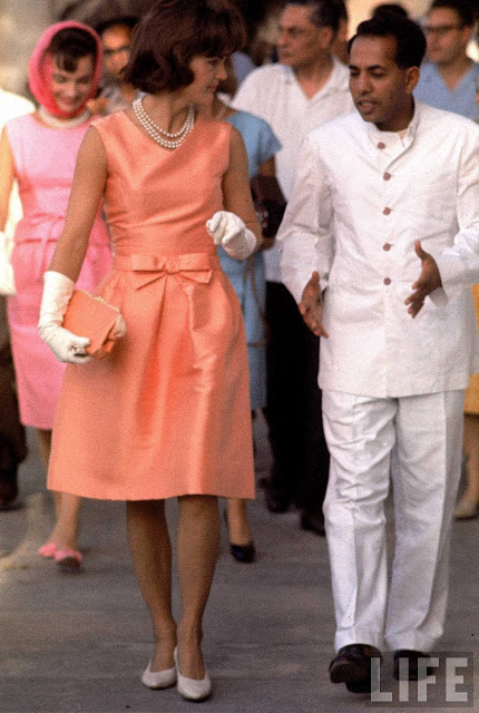 Jackie Kennedy Oleg Cassini apricot dress India