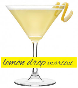 lemon drop cocktail, vodka, triple sec, sugar, lemon juice, martini
