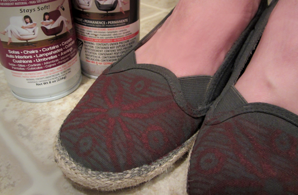 shades of tangerine lace stencil canvas shoes with simply spray diy. Black Bedroom Furniture Sets. Home Design Ideas