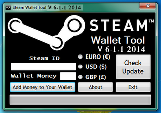 Download Win. Steam Wallet Generator Windows V 6.1.1 2014