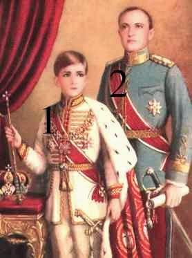 Pierre II et Paul de Yougoslavie