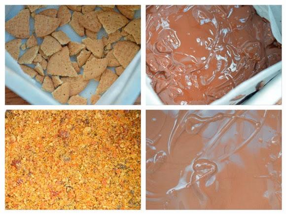 Vier soorten chocolade maltesers bar