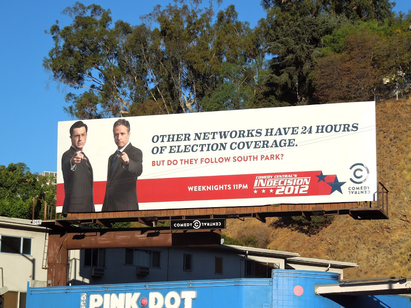Indecision 2012 Comedy Central Election billboard 