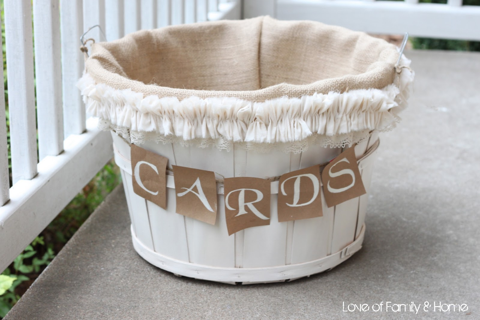 How To Make Wedding Gift Basket : DIY Wedding Card Basket...Love of Family & Home