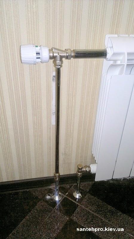 Замена радиатора с нижним подключением на боковое