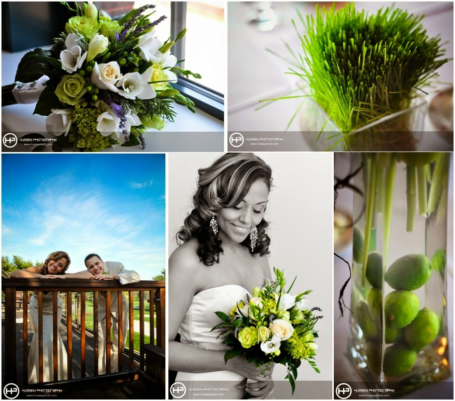 green and white wedding theme http