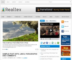 Realtex Blogger Template