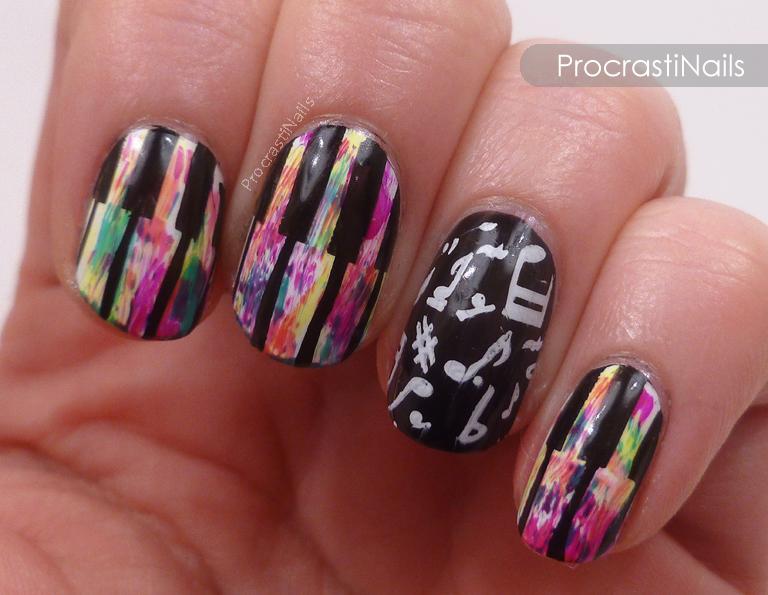 Cheeky Grunge Music Nails Procrastinails