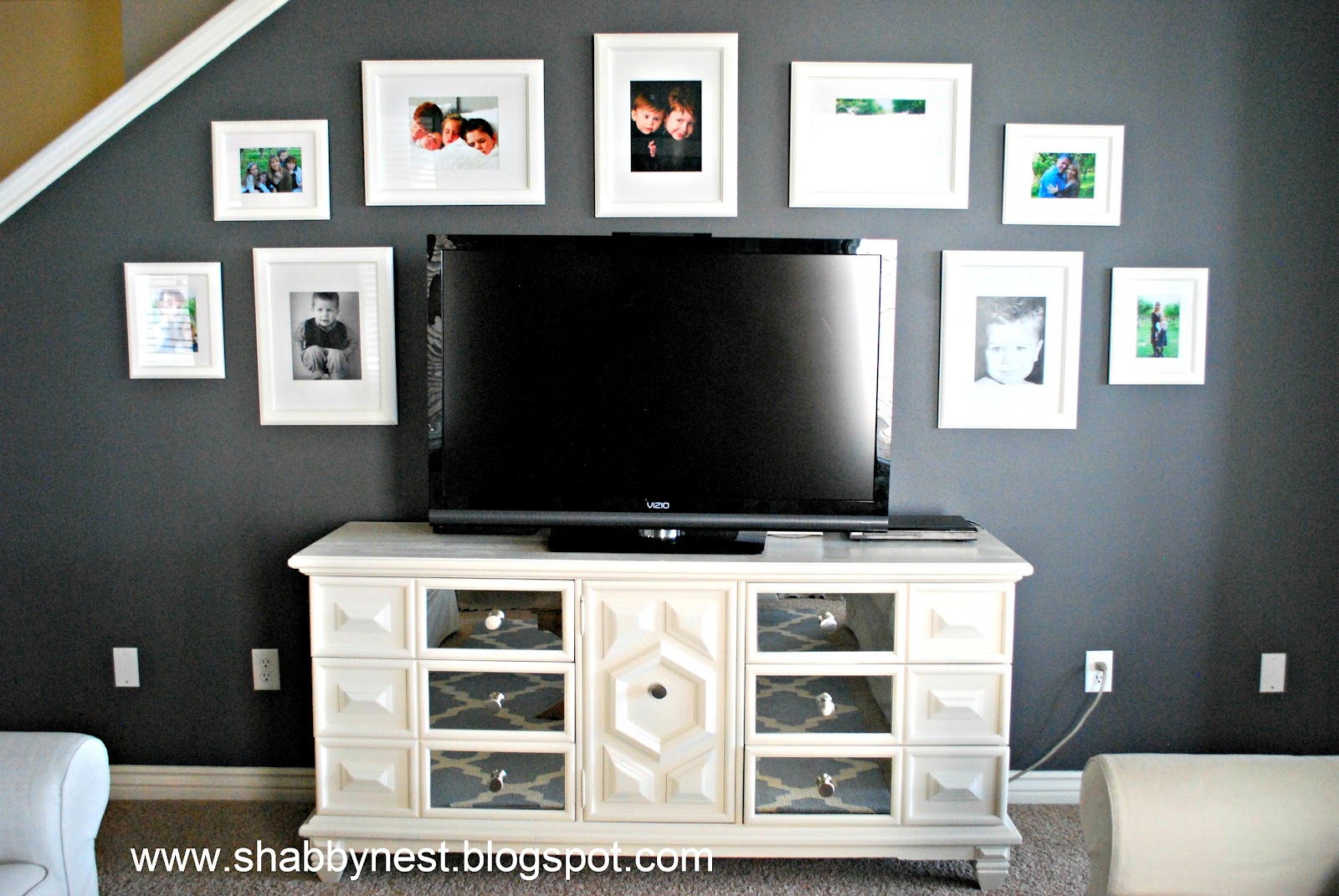 Mirrored Tv Console ~ How we created our mirrored console wendy hyde lifestyle