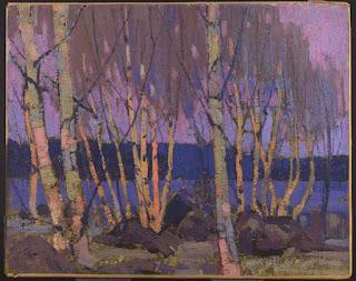 Tom Thomson painting - Evening, Canoe Lake